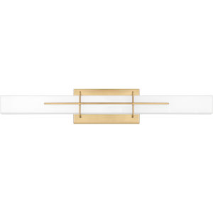Gemini Aged Brass 28-Inch Integrated LED One-Light Bath Vanity with Opal Etched Glass