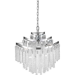 Platinum Collection Glacier Peak Polished Chrome 11-Light Chandelier
