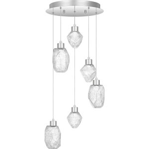 Hailstone Polished Chrome 16-Inch LED Pendant
