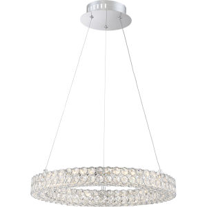 Platinum Collection Infinity 20-Inch Polished Chrome LED Pendant
