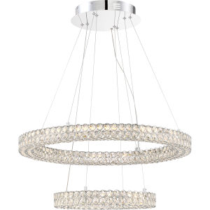 Platinum Collection Infinity Polished Chrome 28-Inch LED Pendant