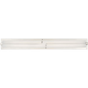 Platinum Collection Lateral Brushed Nickel 32-Inch LED Bath Vanity