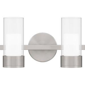 Logan Brushed Nickel Two-Light LED Bath Vanity