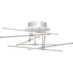 Platinum Collection Lightshow Polished Chrome LED Semi Flush Mount