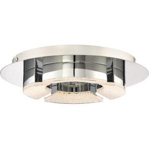Platinum Collection Lunette 12-Inch Polished Chrome LED Flush Mount