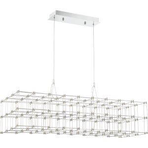 Platinum Collection Labyrinth Polished Chrome LED Linear Pendant