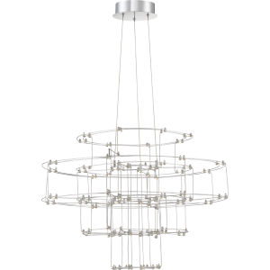 Platinum Collection Labyrinth Polished Chrome LED Pendant