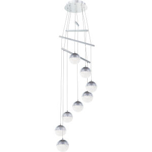 Momentum Polished Chrome Integrated LED One-Light Pendant with Crystal Chip