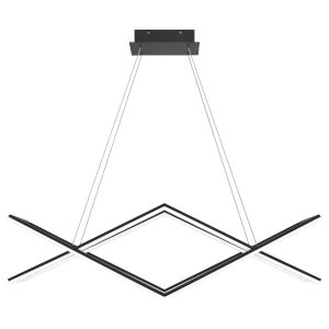 Newman Matte Black LED Chandelier