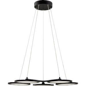 Nitro Matte Black Integrated LED One-Light Chandelier