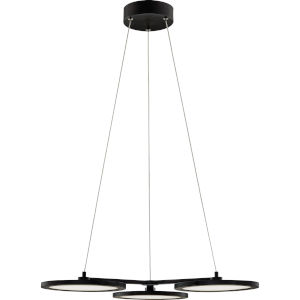 Nitro Matte Black Integrated LED One-Light Dinette Chandelier