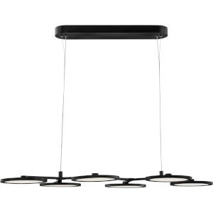 Nitro Matte Black Integrated LED One-Light Island Chandelier