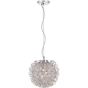 Platinum Collection Pageant Polished Chrome Three-Light Pendant
