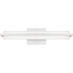 Rosalie Brushed Aluminum 20-Inch Integrated LED One-Light Bath Vanity with Clear Acrylic Crystal Beads