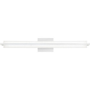Rosalie Brushed Aluminum 30-Inch Integrated LED One-Light Bath Vanity with Clear Acrylic Crystal Beads