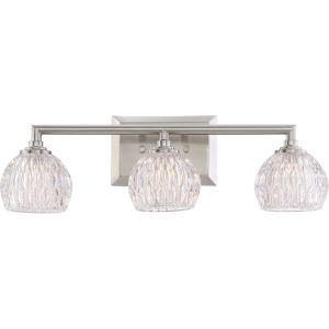 Platinum Collection Serena Brushed Nickel Three-Light LED Vanity