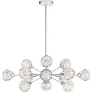 Spellbound Polished Chrome 12-Light Chandelier with Crystal Glass
