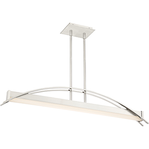 Platinum Collection Sabre Brushed Nickel LED Linear Pendant