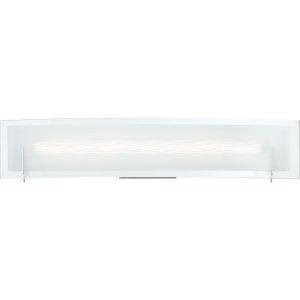 Platinum Collection Stream Polished Chrome 23-Inch LED Bath Vanity