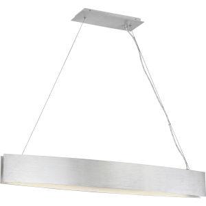 Platinum Collection Silver Edge Brushed Aluminum LED Linear Pendant