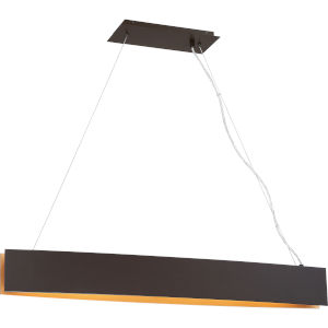 Platinum Collection Silver Edge Western Bronze LED Linear Pendant