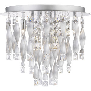 Twinkle Polished Chrome Six-Light Flush Mount