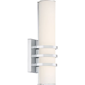Platinum Collection Trinity Polished Chrome LED Wall Sconce