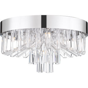 Platinum Collection Venus Polished Chrome Five-Light Flush Mount