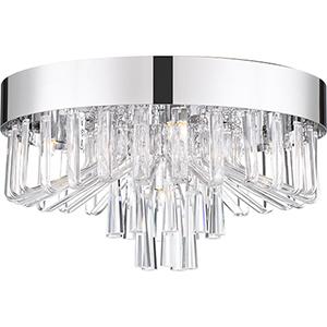 Platinum Collection Venus Polished Chrome Five-Light Flush Mount