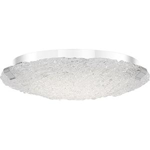 Platinum Collection Winter Polished Chrome LED Flush Mount
