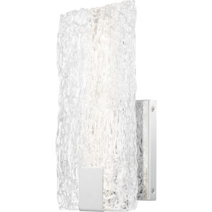 Platinum Collection Winter Polished Chrome LED Wall Sconce