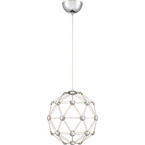 Platinum Collection Zodiac Polished Chrome 15-Inch LED Pendant