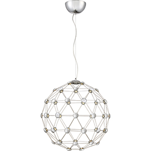 Platinum Collection Zodiac Polished Chrome 21-Inch LED Pendant