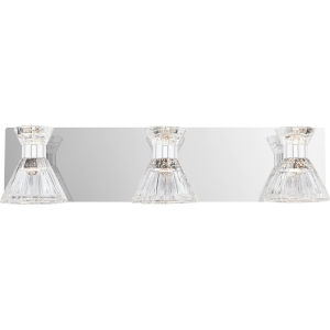 Zuri Polished Chrome Three-Light LED Bath Vanity