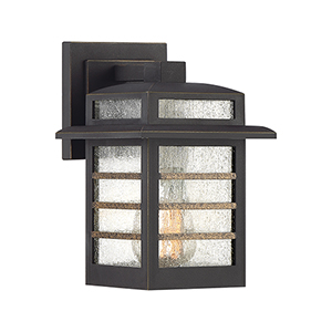 Plaza Palladian Bronze Nine-Inch One-Light Outdoor Wall Sconce