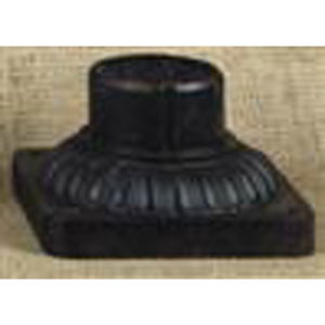 Outdoor Mystic Black 3.5-Inch Pier Mount Accessory