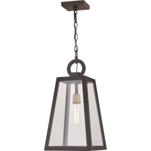 Poplar Point Old Bronze One-Light Outdoor Pendant