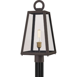 Poplar Point Old Bronze One-Light Outdoor Post