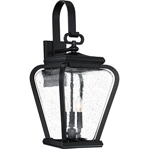 Province Mystic Black Three-Light Outdoor Wall Sconce