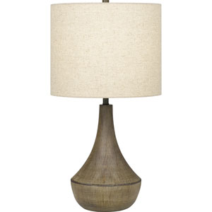 Rockville Weathered Elm One-Light Table Lamp