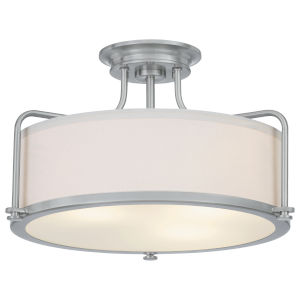 Calvary Brushed Nickel Three-Light Semi-Flush Mount