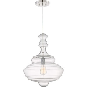 Polished Chrome 16-Inch One-Light Pendant