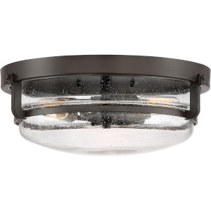 Palladian Bronze Three-Light Flush Mount