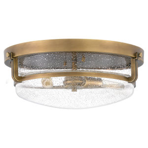 Outpost Weathered Brass Three-Light Flush Mount