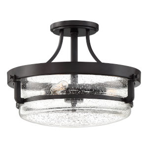 Outpost Palladian Bronze Three-Light Semi-Flush Mount