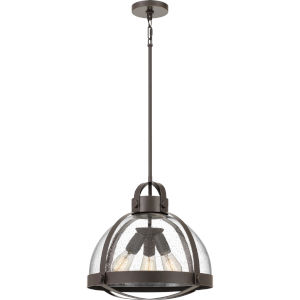 Tyler Palladian Bronze Three-Light Pendant