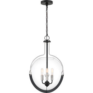 Meloni Earth Black Three-Light Pendant