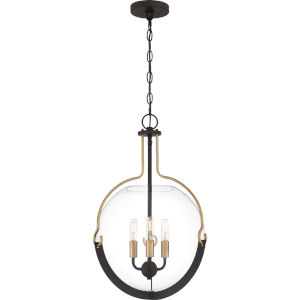 Meloni Western Bronze Three-Light Pendant