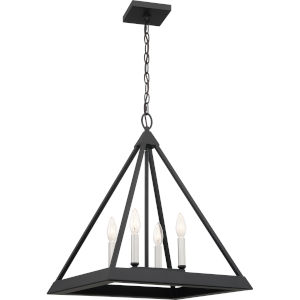 Draper Earth Black Four-Light Pendant