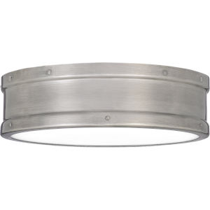 Ahoy Antique Polished Nickel Integrated LED One-Light Flush Mount
